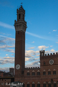 The Torre del Mangia rises above the town - Siena, Italy ... May 28, 2013 ... Photo by Rob Page III