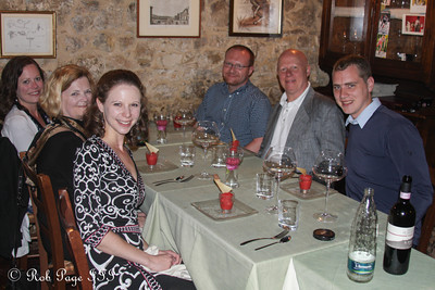 A wonderful, celebratory dinner - Siena, Italy ... May 30, 2013