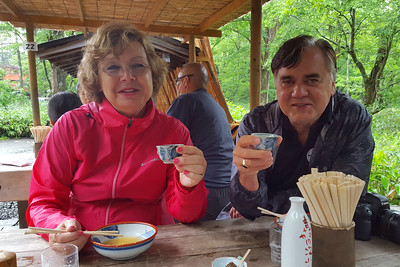 Enjoying lunch - Kamikochi, Japan ... July 9, 2016 ... Photo by Rob Page III
