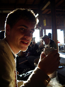 From Michael Ruprecht. Rob enjoying his victory beer.  The Robert Page, Masashi Kato, and Michael Ruprecht Mt Fuji Expedition 2004.   July 7, 2004 Copyright Robert Page III
