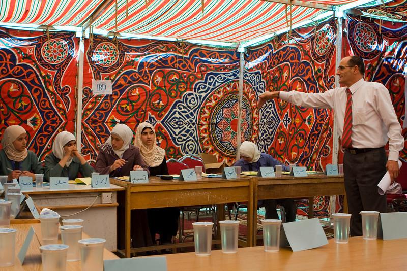 Kamel, IRD Community Mobilization Team Leader, opening the meeting.