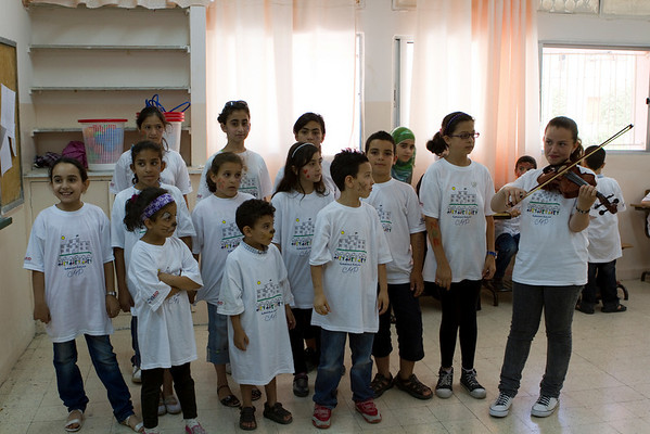 Another demonstration of songs learned during summer camp.