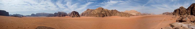 Panorama of Wadi Rum (about 300 degrees)