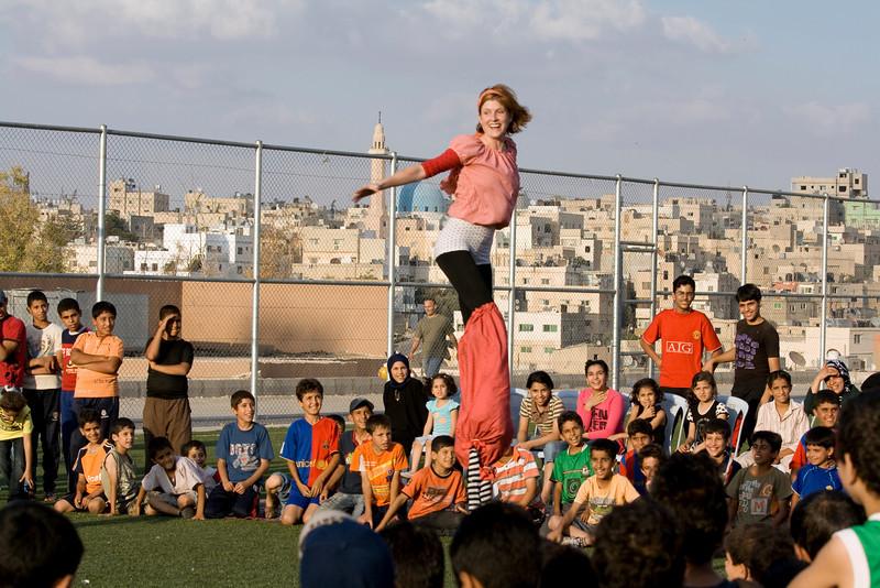 Zany Umbrella Circus for Iraqi Refugees
