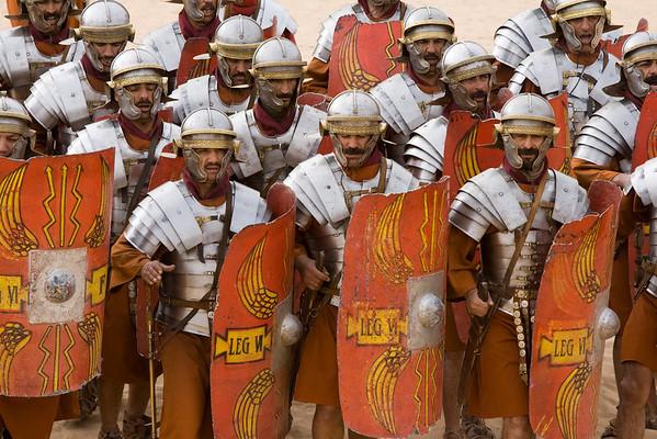 A re-enactment of the Roman Gladiators.
