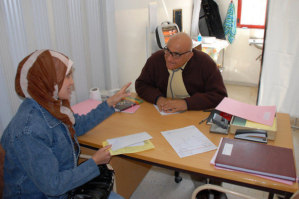 This is an Iraqi MD, who is a refugee, who volunteers his time at the clinic