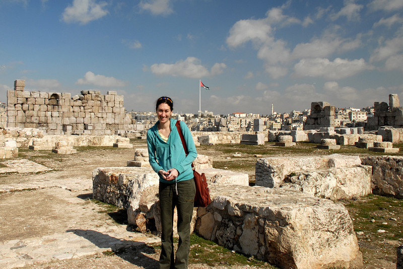 Standing amidst the Palace ruins