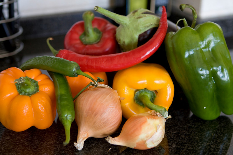 Raw ingredients for my curry!