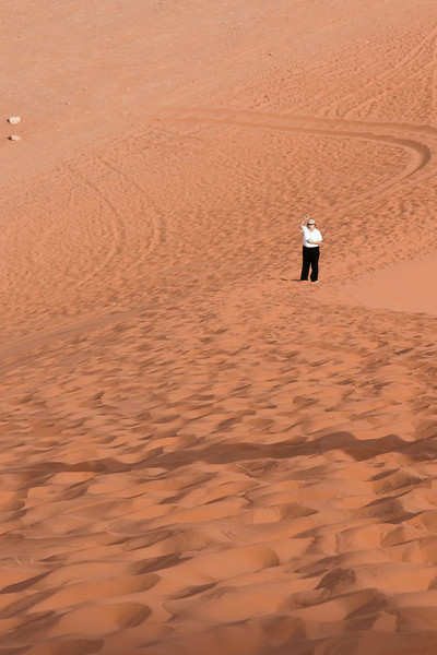 Esther at the bottom of the Sand Dune