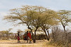 Maasai warriors in their Village inside Samburu National Reserve