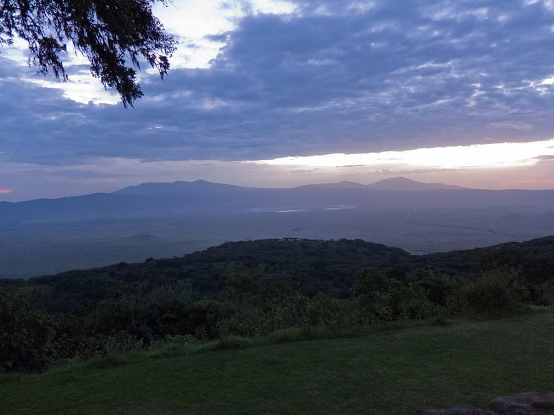 The sun sets at the Ngorongoro Sopa Lodge in Tanzania