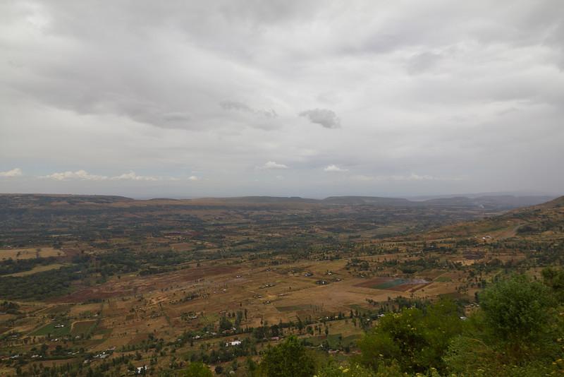 Roadside landscape of the Rift Valley on the way to Lake Nakuru - Kenya