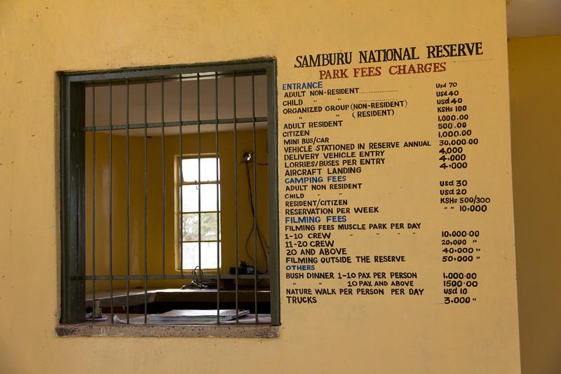 Entrance to Samburu National Reserve - Kenya