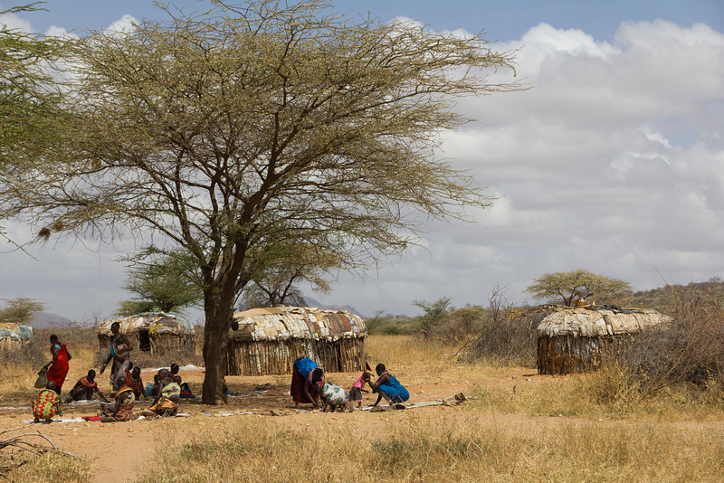 Village life of the Maasai in the Samburu National Reserve - Kenya