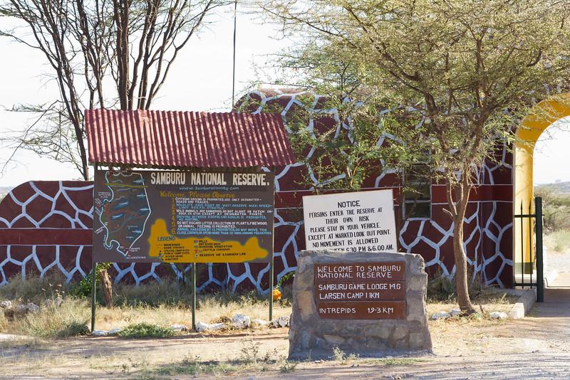 Entrance to the Samburu National Reserve - Kenya