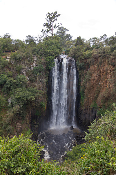The Nyahururu Falls in the Rift Valley, Lake Nakuru area - Kenya.
