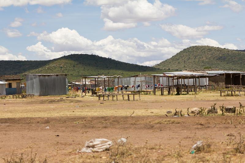 Maasai Village in Masai Mara National Reserve - Kenya