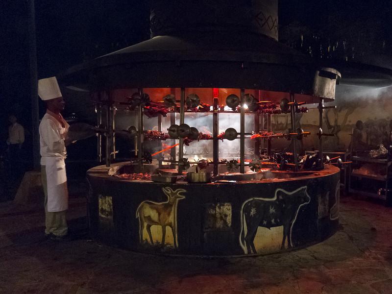 Carnivore style dinner at the Nairobi Safari Park Hotel in Kenya