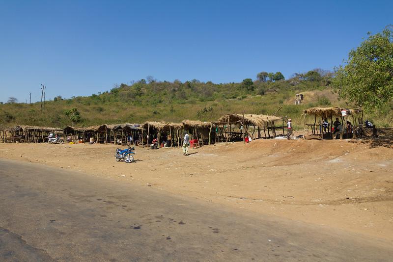 Roadside market in Kenya on the way to Samburu National Reserve - Kenya