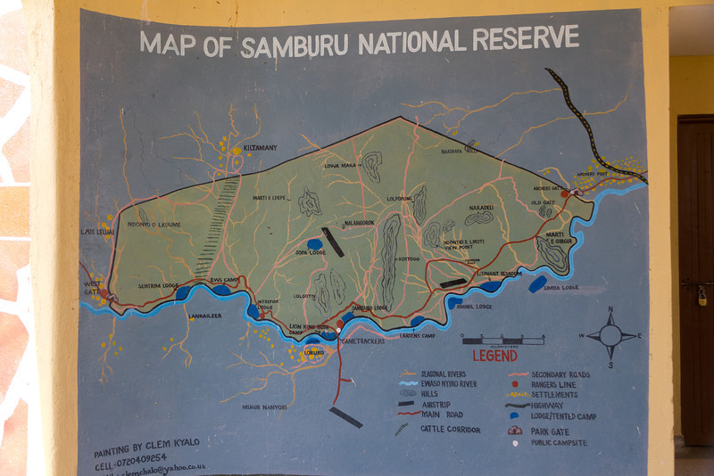 Samburu National Reserve in Kenya - Area Map