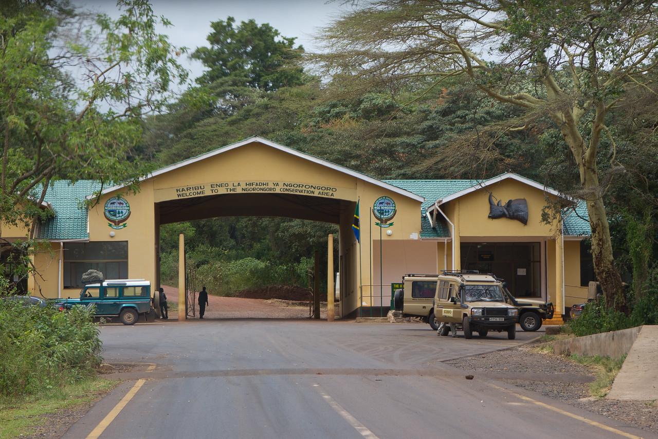 Entrance to the Ngorongoro Crater World Heritage Site - Tanzania