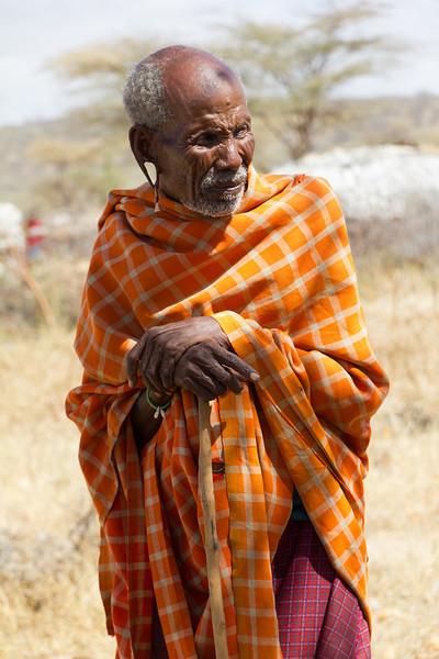 Maasai Elder living in the Samburu National Reserve - Kenya