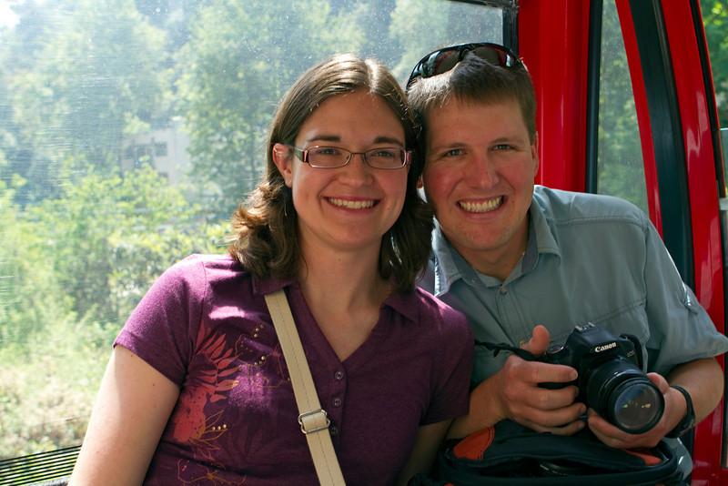 Taking the tram to Jeita Grotto