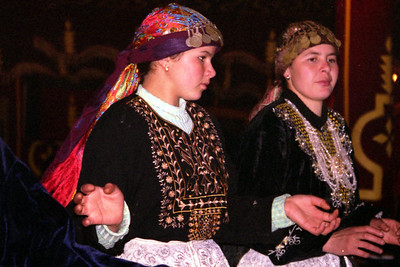 Dancers at Fantasia Chez Ali  - Marrakesh, Morocco ... March 7, 2005 ... Photo by Heather Page