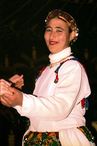 Dancing at Fantasia Chez Ali  - Marrakesh, Morocco ... March 7, 2005 ... Photo by Heather Page
