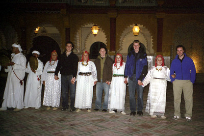 Joining in the festivities at Chez Ali - Marrakesh, Morocco ... March 7, 2005 ... Photo by Rob Page III
