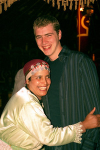 Rob has been captured.  Fantasia Chez Ali  - Marrakesh, Morocco ... March 7, 2005 ... Photo by Heather Page
