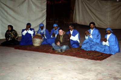 Fantasia Chez Ali. Jordan joins in  - Marrakesh, Morocco ... March 7, 2005 ... Photo by Heather Page