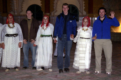 I think Elliot is happy because he got to touch a girl's hand ~ Fantasia Chez Ali  - Marrakesh, Morocco ... March 7, 2005 ... Photo by Heather Page