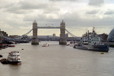 The Tower Bridge - London, England ... March 5, 2005 ... Photo by Heather Page