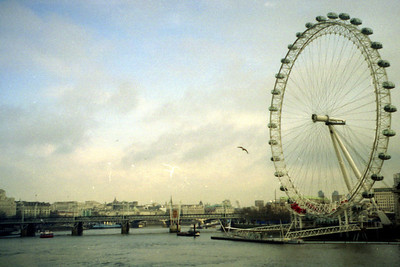 The London Eye presides over the Thames and the rest of the city - London, England ... March 4, 2005 ... Photo by Rob Page III