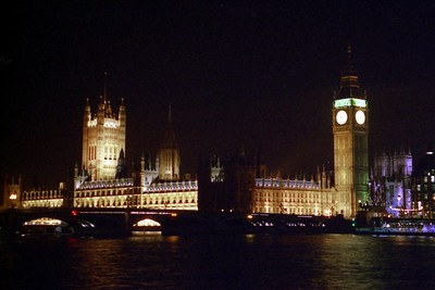 Big Ben and Parliament at night - London, England ... March 4, 2005 ... Photo by Rob Page III