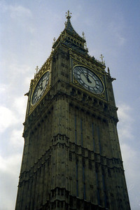 This is Big  Ben, well the bell is what is actually Big Ben.  It has kept time for England since 1858 - London, England ... March 4, 2005 ... Photo by Rob Page III