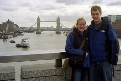 Enjoying London with my sister - London, England ... March 5, 2005 ... Photo by Unknown