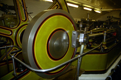 The engine room for the Tower Bridge.  The engines were needed to lift the two sides of the drawbridge - London, England ... March 5, 2005 ... Photo by Heather Page
