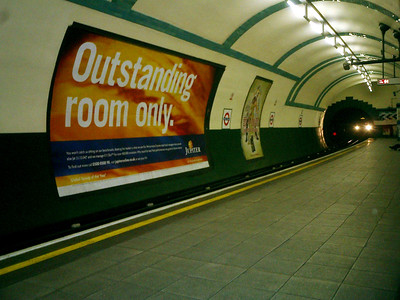 A tube station - London, England ... March 4, 2005 ... Photo by Rob Page III