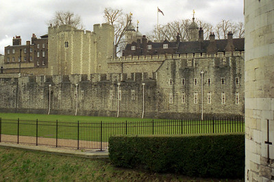 The Tower of London where the Crown Jewels are now kept - London, England ... March 5, 2005 ... Photo by Heather Page