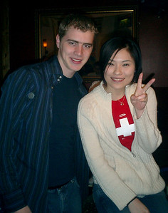 Chilling with Yasuko in an English Pub - London, England ... March 4, 2005 ... Photo by Rob Page III