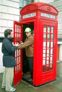 """""""I swear Elliot, your friends say the surf is great in Redondo.  Do you want to talk to them?"""" - London, England ... March 4, 2005 ... Photo by Rob Page III"""
