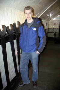 Rob = 6 feet 3 inches : Wrenches = almost as big  - London, England ... March 5, 2005 ... Photo by Heather Page