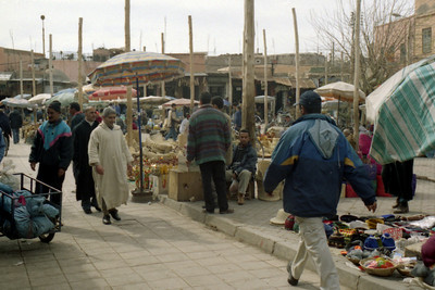 The bustling market of Marrakesh - Marrakesh, Morocco ... March 7, 2005 ... Photo by Heather Page