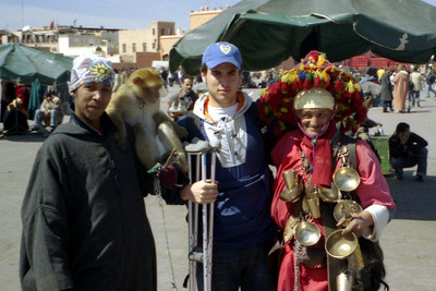 Meeting some of the locals - Marrakesh, Morocco ... March 7, 2005 ... Photo by Rob Page III