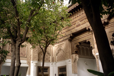 The courtyard at the Bahia Palace - Marrakesh, Morocco ... March 10, 2005 ... Photo by Rob Page III