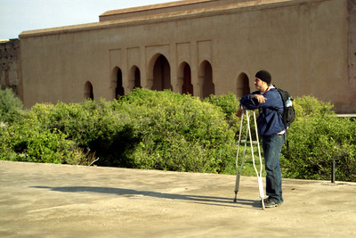 Pedro taking a break from hobbling around at the El Badi Palace - Marrakesh, Morocco ... March 7, 2005 ... Photo by Heather Page