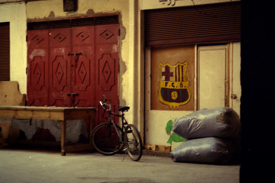 Any Barca fans in the house? - Marrakesh, Morocco ... March 10, 2005 ... Photo by Rob Page III
