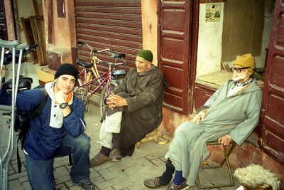 Pedro joins the streetlife - Marrakesh, Morocco ... March 7, 2005 ... Photo by Rob Page III